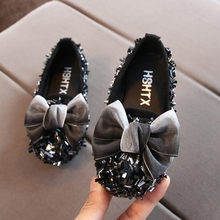 2019 Fashion Peuter Infant Kids Baby Meisjes Boog Crystal Bling Casual Prinses Schoenen Instappers Nieuwe collectie(China)