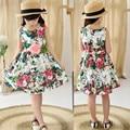 Дети одежда летние платья для девочек летний стиль девушки платье цветочный принт хлопок день рождения сарафан детские детская одежда