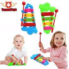 2017New Best Sale Baby Child Kid 4 Note Hand knock piano Musical Instrument Toys Wisdom Development