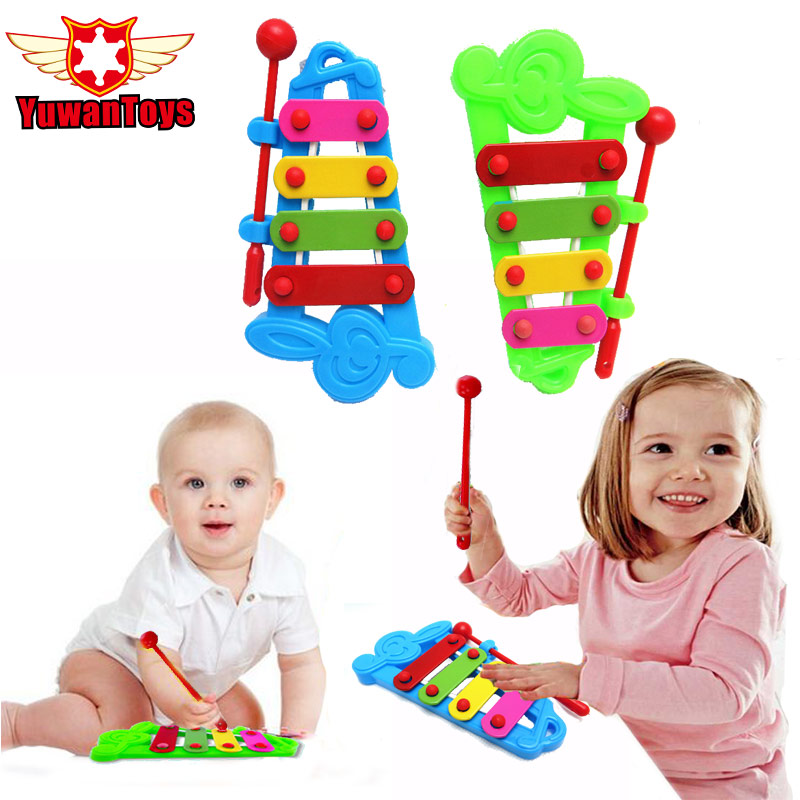 2017New Best Sale Baby Child Kid 4-Note Hand knock piano Musical Instrument Toys Wisdom Development