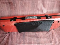 4/4 New violin Case carbon fibre Light Strong Combination lock Have a violin case straps red Square
