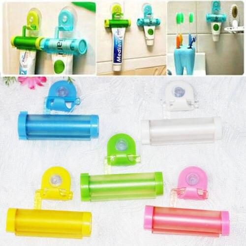 1 PCS Creative Rolling Squeezer Toothpaste Dispenser Tube Partner Sucker Hanging Holde distributeur dentifrice