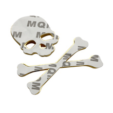 3D Skull Metal/ABS Skeleton Crossbones Emblem