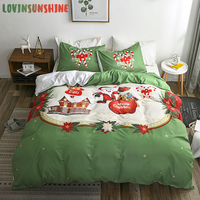 LOVINSUNSHINE Queen Size Comforter Sets Kids Duvet Cover Christmas Santa Claus Printing Bedding Set AB#201