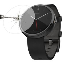 YCYS!0.3mm Ultra Thin 2.5D 9H Real Tempered Glass For Moto 360 Smart Watch
