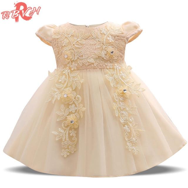 90ed778111 Lato Dziewczynka Sukienka New Designer Chrzest Chrzciny Suknie Koronki suknia  Dziewczynka 1 Rok Urodziny Outfit Fancy