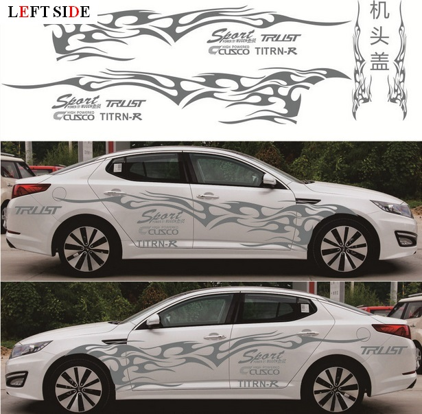Quality DIY Car Modified Body Vinyl Film Decal Stickers with Letter Waterproof