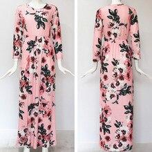 Long Dress Floral Print Boho Beach Dress Tunic Maxi Dress Women Evening Party Dress