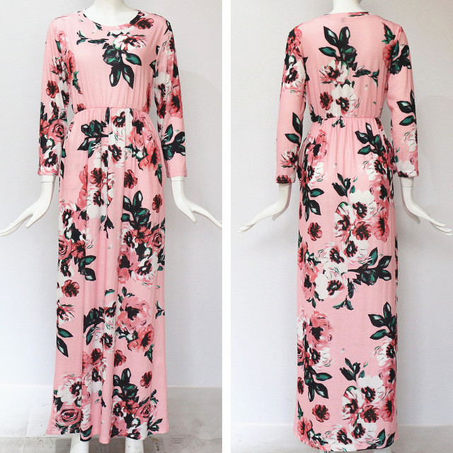 3415062cd5 1.1 Long Dress Floral Print Boho Beach Dress Tunic Maxi Dress. Home / WOMEN  / SHIRTS & TOPS. -50%. Rated ...