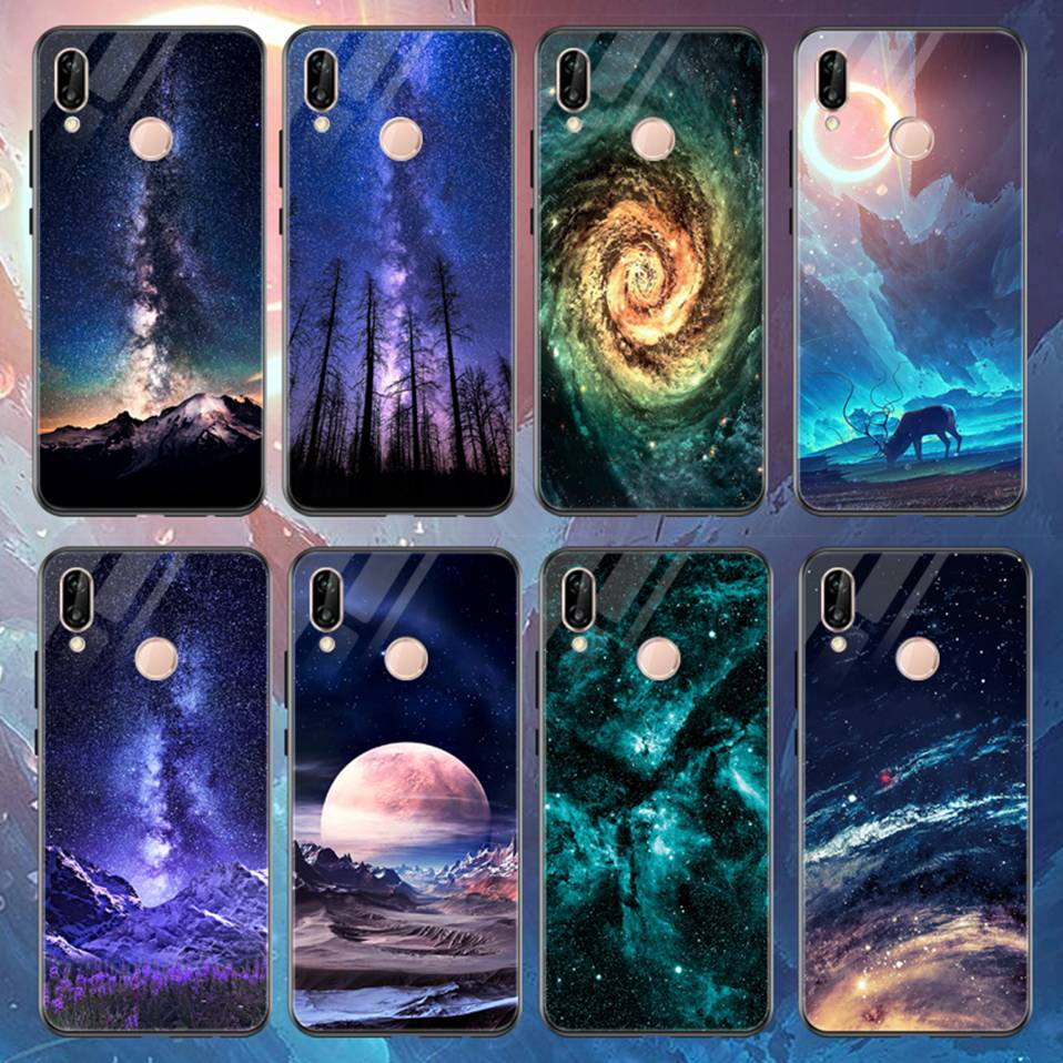 Glass Case For Huwei P20 Lite Nove 3 2i Silicone Anime Case For Huawei Honor Play 9 7A Mate 10 20 Lite P20 Pro P Smart Y6 2018   (2)