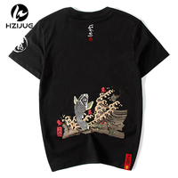 New Arrival Men's T Shirt Summer Short Sleeve Print Carp Fish High Quality Fashion Tops Tees Cotton T shirt Plus Size 4XL