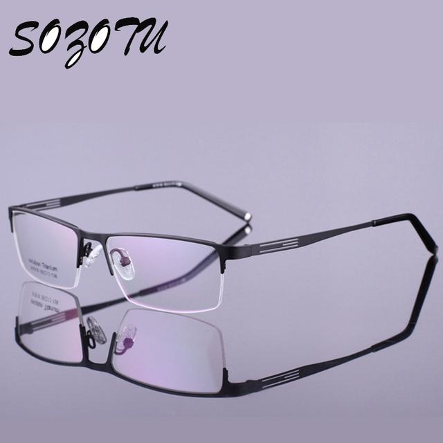 Óculos ópticos Quadro Homens Computer Eye Glasses Spectacle Frame Da Liga Para O Sexo Masculino Transparente Limpar Lente Armacao oculos de YQ179