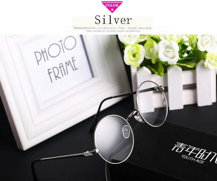 b0596d632a6b Cute Japanese Mori Girls VINTAGE Round Fashion Glasses Eyewear Metal Frame  Lolita Accessory-in Costume Accessories from Novelty & Special Use on ...