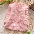 2017 de los bebés encantadores del cordón una línea de vestidos de niñas niños verano otoño dress