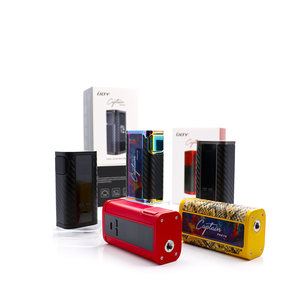 original IJOY Captain PD270 TC Box Mod with dual 20700 battery PD 270 E cig box vape kit fit 18650 and 20700 Firmware Upgradable newest and hotest product e cig vapor mod god 180s with 220w box mod dry herb smy god 180s mod