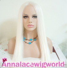 FREE SHIPPING high temperature synthetic White cosplay  lace front wig