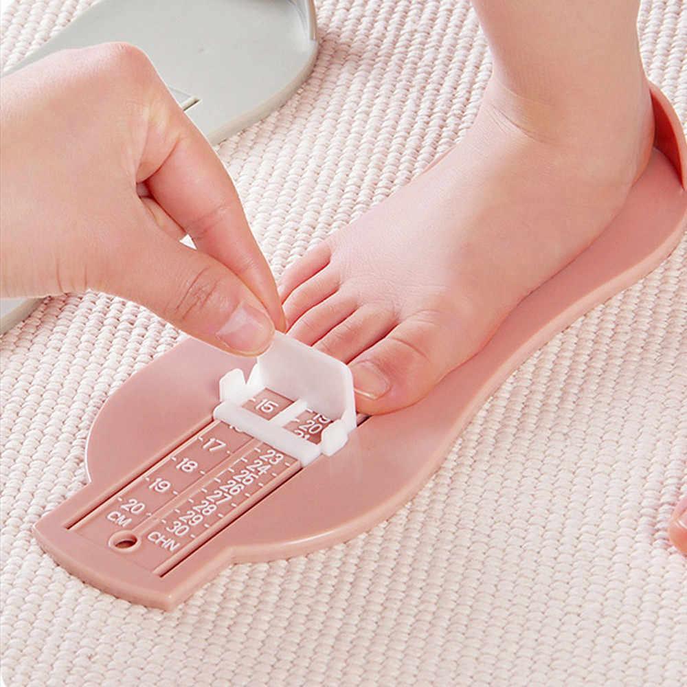 ฤดูร้อนรองเท้าเด็กเครื่องมือวัดขนาดรองเท้าทารกอุปกรณ์ไม้บรรทัดรองเท้า # K12