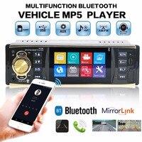4 Auto Radio Car Stereo 1 Din Bluetooth Autoradio MP5 HD Video Player MP3 USB TF Aux Remotes In dash Head Unit Support Camera