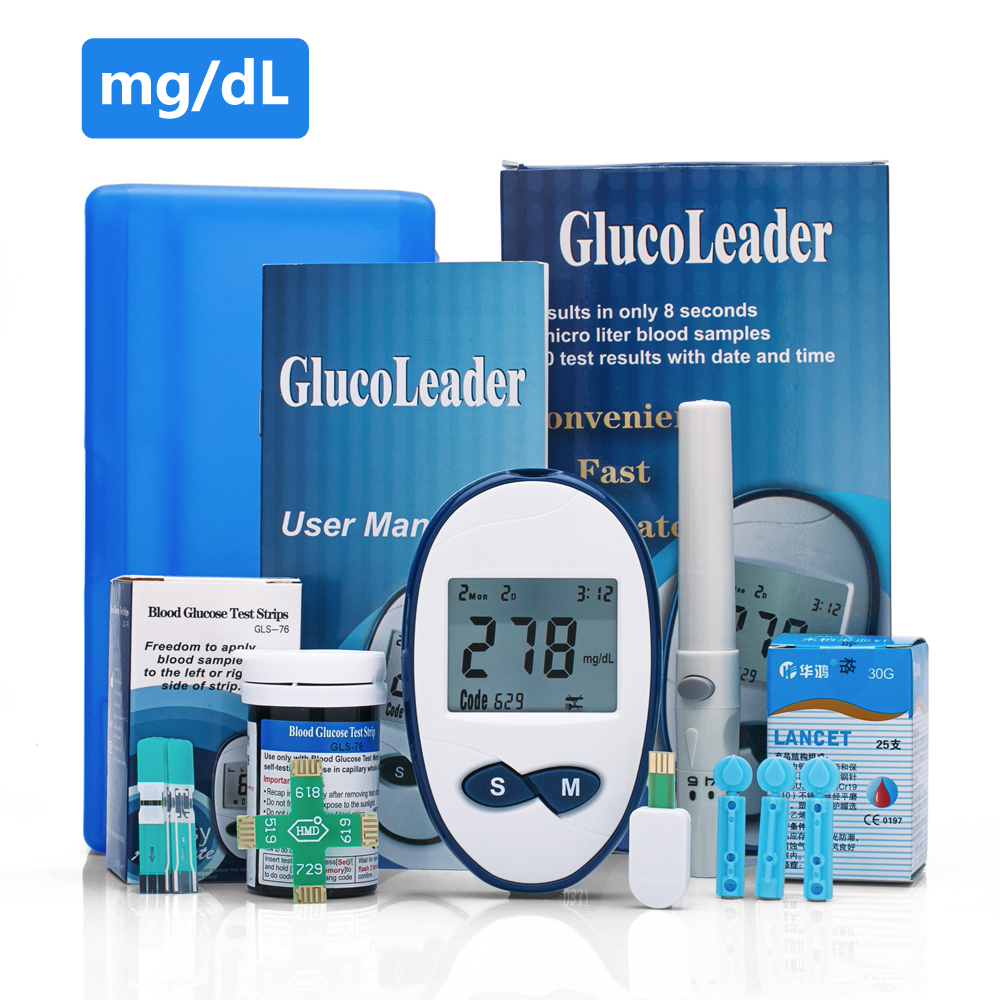 Yongrow Blood Glucose Meter & 25or50 Blood Glucose Test Strips For Diabetics Test Health Glucometer Blood Sugar Monitor high quantity medicine detection type blood and marrow test slides