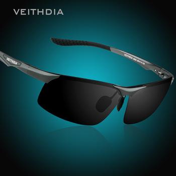 VEITHDIA Magnez magnezu okulary meskie polaryzacyjne Nocna wizja Lustro mężczyzn Okulary okulary przeciws oneczne Wytrzeszczać oczy dla mężczyzn 6502 tanie i dobre opinie Bez oprawek Dla dorosłych Aluminium Spolaryzowane Antyrefleksyjną UV400 4 0 cm Poliwęglan 6 8 cm