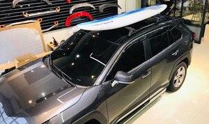"Image 5 - חדש הגעה אופקי גגון בר רוחבי גג רכבת צלב בר עבור טויוטה RAV4 2019 2020, אלומיניום סגסוגת, ארה""ב orignal סגנון"