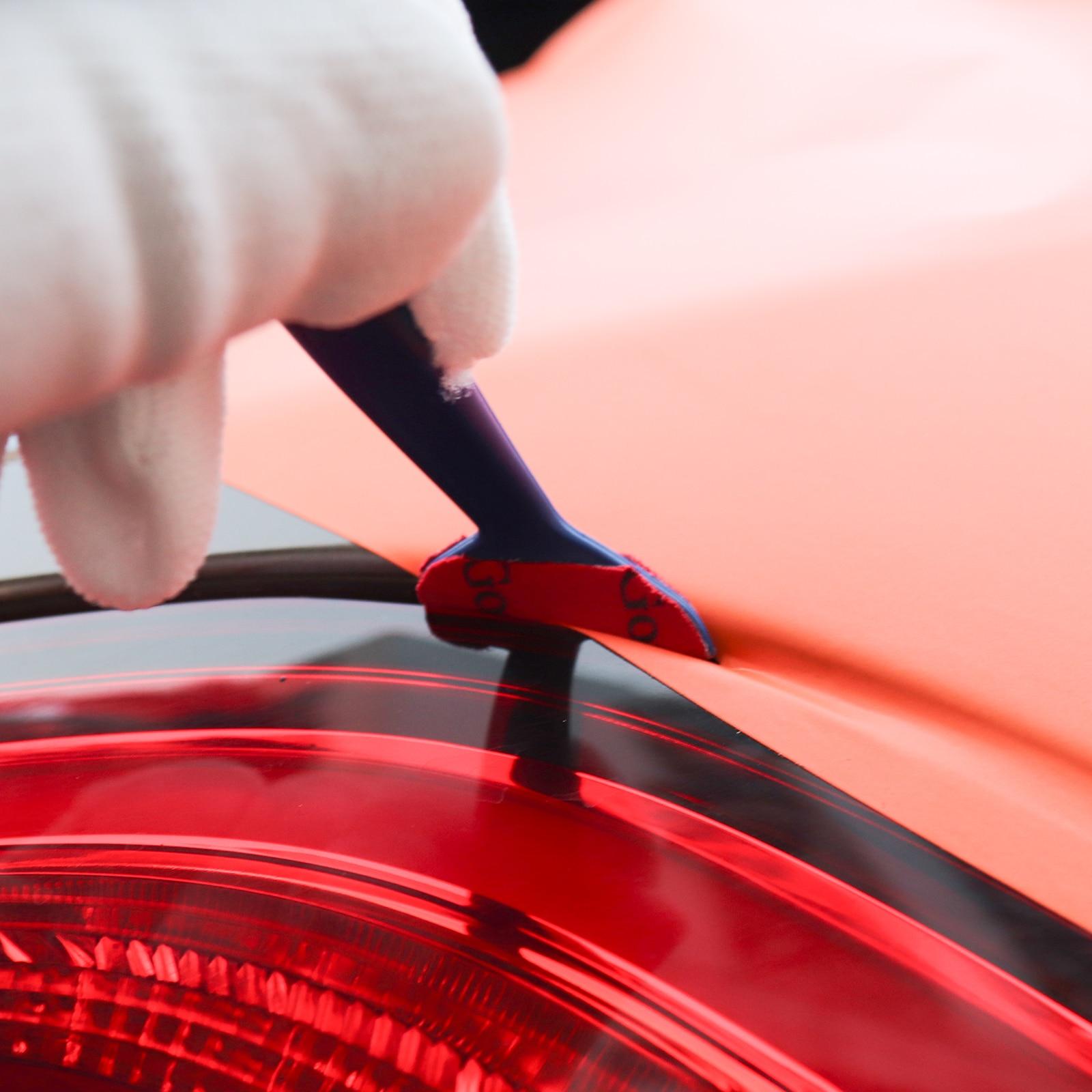 Image 5 - FOSHIO, 5 шт., виниловая оберточная пленка из углеродного волокна, автомобильные инструменты, магнитная угловая палочка, скребок, прокладка, микро окно, тонировка, магнит, набор-in Скребок from Автомобили и мотоциклы