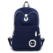 Designer Letters Printing Canvas Travel Backpack Japan And Korean Style Fashion Contracted School Bag Men Casual