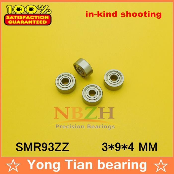 (1 Stücke) Hohe Qualität Miniatur Edelstahl Rillenkugellager (edelstahl 440c Material) Smr93zz 3*9*4mm