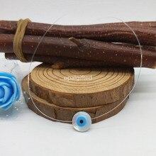 1 шт./лот высокое качество продвижение прозрачной цепи Mother Of Pearl синий глаз mop В виде ракушки Цепочки и ожерелья с цена для женщин подарок