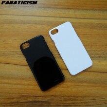 100 шт однотонные черные белые глянцевые пластиковые жесткие чехлы для телефонов для iphone XR X XS Max 5 5S SE 6 6s 7 8 Plus 1,3 мм Жесткая задняя крышка из ПК