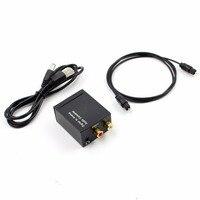 Ttkk digital ao conversor de áudio analógico amplificador decodificador de fibra óptica sinal coaxial para adaptador de áudio estéreo analógico 3.5 m|  -