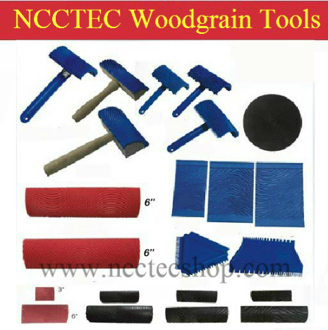 A Package Of 22 Pcs Woodgrain Tools FREE Shipping | Imitate Wood Grain Tool Sets | Texture Art Paint Tools