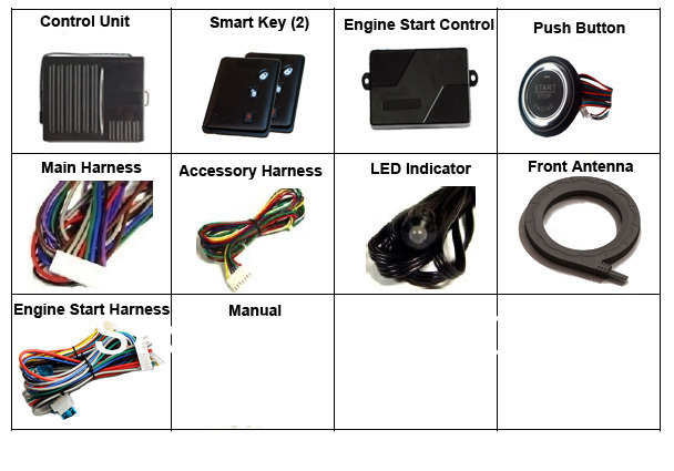 Hot sale- Passive Keyless entry Smart Key System with Push Button Start and Remote start
