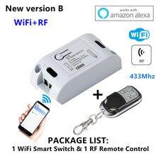 Commutateur Wifi Modules domotiques intelligentes DIY Télécommande sans fil Télécommande Relais de commutation 110V 220V Fonctionne avec Alexa