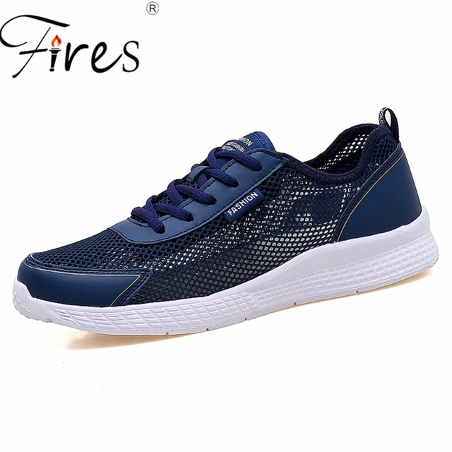 Fires Large Size Men Sneakers Summer Running Shoes Sports Lightweight Black  White Male Outdoor Walking Zapatillas eafcc29ae3a6
