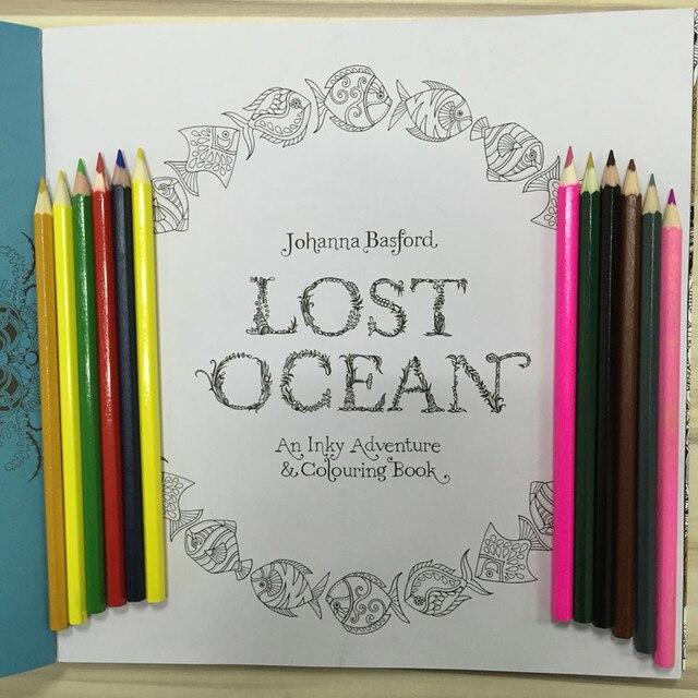NUEVA Perdido Océano Libro Para Colorear Libro Para Colorear Adultos ...