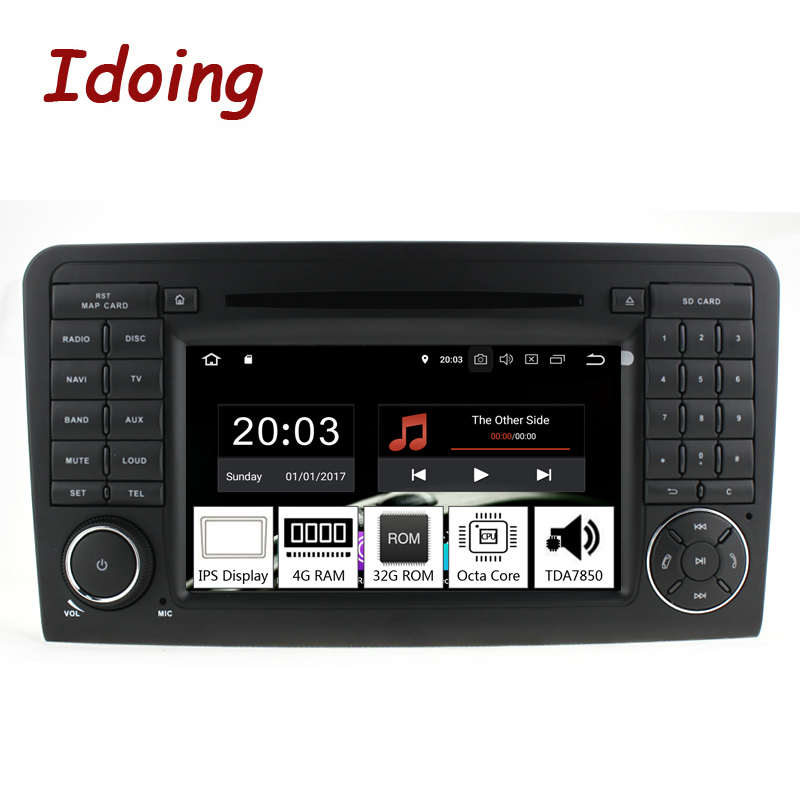 Idoing 7 2Din Andriod 9 0 Car Radio DVD Multimedia Player For Mercedes Benz W164 X164
