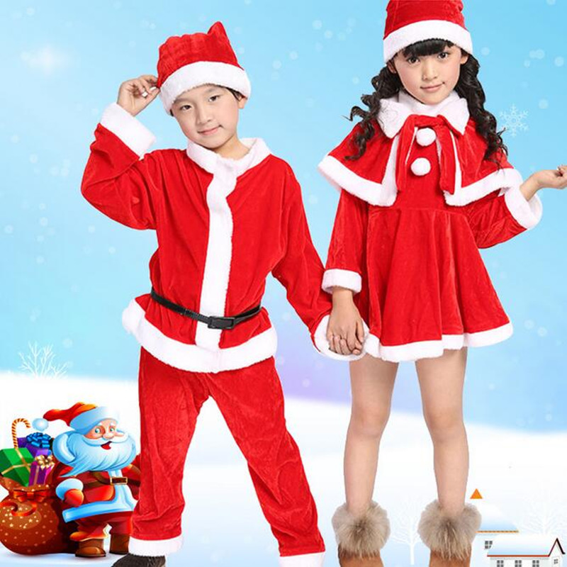 2015 New winter Christmas Girls Dress,children christmas party costumes for girls and boys,Kids Clothes Cotton Clothing with hat 2015 new arrive super league christmas outfit pajamas for boys kids children suit st 004