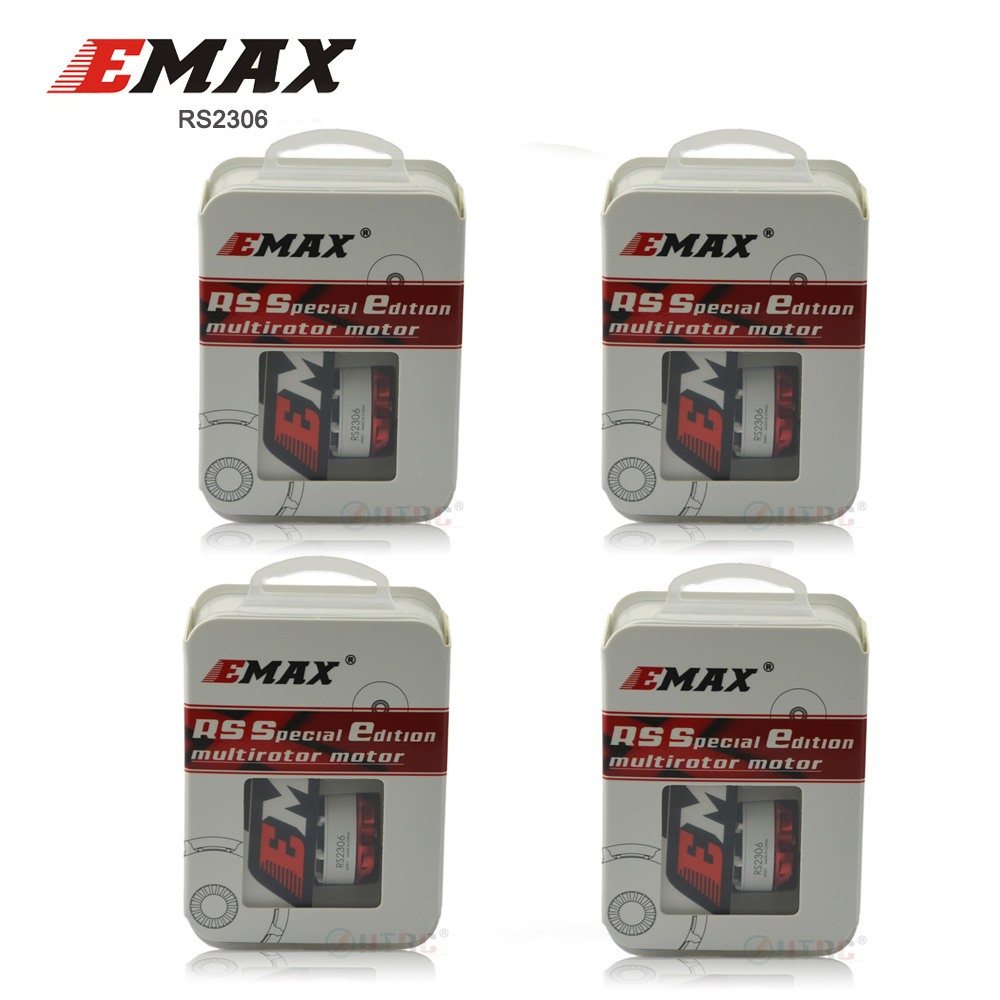 4PCS EMAX Original RS2306 2400KV /2750KV White Editions RaceSpec Brushess Motor For FPV Quadcopter