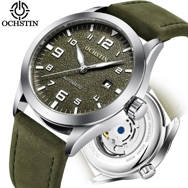 Top Brand OCHSTIN Tourbillon Automatic Watch Men Waterproof Date Sport Men Leather Mechanical Wrist Watch Male Clock Fashion