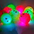 24pcs/lot New funny light up toys soft rubber glowing bouncy balls mix color flash luminous smile maomao ball for party supplies