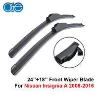 Front And Rear Wiper Blade For Nissan Insignia A 2008 2016 Silicone Rubber Windscreen Wipers Car
