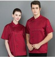 Chef Uniform Costume Breathable Food Service Tops Western Hotel Restaurant Coffee Shop Kitchen Chef Jacket Summer Work Clothes