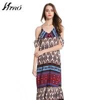 2017 HIRO Boho Summer Dresses Spaghetti Strap Sexy Dress Women Print Vintage Chiffon Vestidos De Fiesta