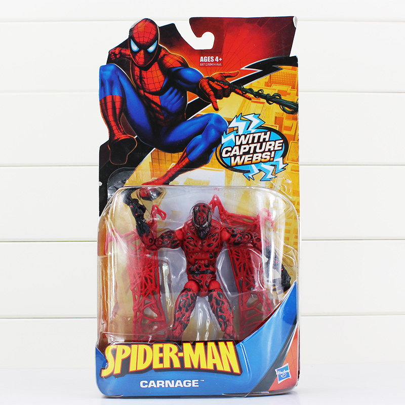 Spiderman Toys Superheros Red Suit Spider-man Action Figure Spider man Figures Toy Collectible Model PVC Doll 15cm
