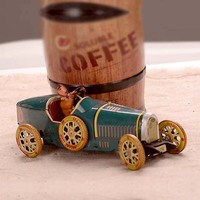 Retro Tinplate Sports Car Clockwork Collections Vintage Tin Wind Up Toys Classic Handmade Crafts