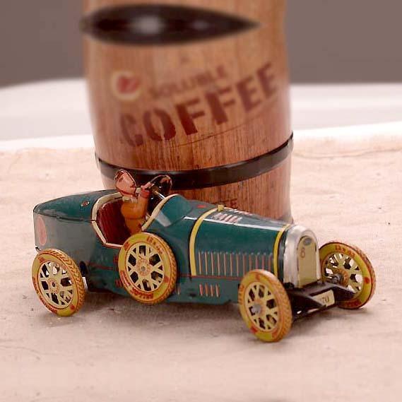 Retro Coche Deportivo Colecciones Vintage Estaño Clockwork Wind Up Juguetes de Hojalata Clásicos Artesanías Hechas A Mano