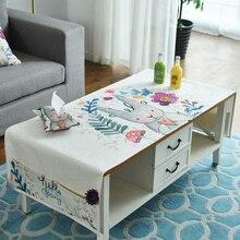 New Nordic home art modern minimalist cotton& linen fresh rectangular table cloth living room TV cabinet coffee table FG1124