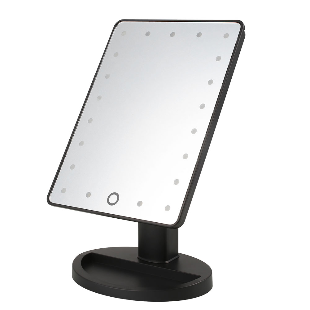 Make Up Vanity Illuminated Table Makeup Mirror Led Stand Cosmetic Mirror  with 21 LED Light. Illuminated Vanity Mirrors Promotion Shop for Promotional