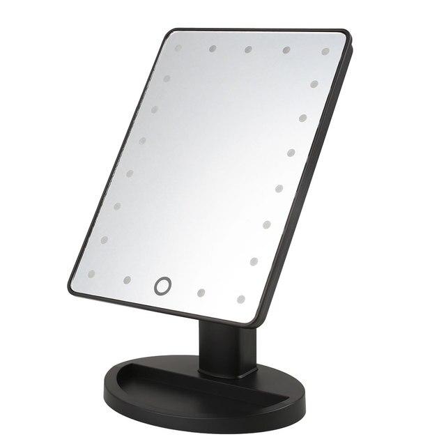 Mesa de Maquillaje Vanidad Iluminado Espejo de Maquillaje Led Espejo de aumento de Pie con 21 LED de Luz